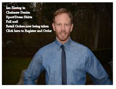 Actor Ian Ziering in fall denim for chainsaw brands. Relax-wear for living and working in comfortably.