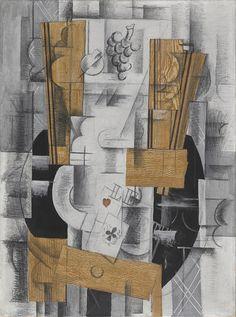 """Georges Braque, """"Compotier et cartes"""", 1913."""