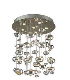 "Metropolitan Lighting Fixture Co.   bubbles pendant   rainbow clear bulbs   26""dia x 33""h   Ref.96964-PC"