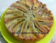 BOLO DE BANANA, IOGURTE DE KEFIR E MEL Kombucha, Apple Pie, Low Carb, Pasta, Desserts, Bananas, Cakes, Sweet Recipes, Yogurt