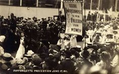 Christabel Pankhurst, daughter of Emmeline Pankhurst, holds up a banner that reads, imprisonments to win freedom for women. Anti Suffrage, Women Suffragette, Political Equality, Politics, Emmeline Pankhurst, Dream Book, Creative Skills, Women In History, Suffragettes