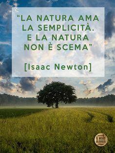 """""""La Natura ama la semplicità. E la Natura non è scema"""" [Isaac Newton]"""