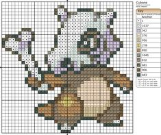 Cubone Pokemon free cross stitch pattern