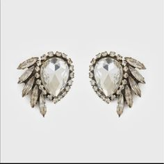 Loren Hope Crystal Pear Earrings