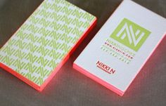 Mmmm letterpressed. I want to touch. Geometric pattern + vertical layout + bright, contrasting edges
