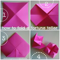 shaken together: {create this} 80s party fortune teller garland