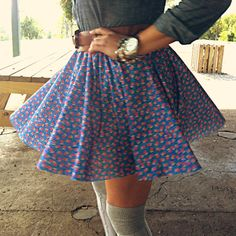 DIY skirt. Their whole blog is awesome.,  Go To www.likegossip.com to get more Gossip News!