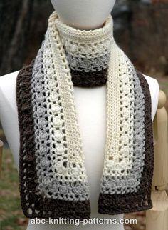 Snowy Evening Bobble Scarf Free Crochet Scarf Pattern
