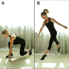 This move helps burn more calories while you work the power (fast-twitch) muscle fibers in your legs—a killer combo for trimmer thighs.