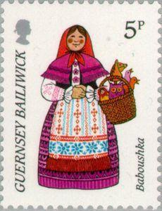 Guernsey Baboushka stamp, 1985 #stamps #poststamp