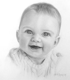 """Technique: 5-Pencil Method Paper: Strathmore Bristol Vellum (300 Series) Size: 11x14 Pencils: Blick Studio Graphite; 4H;2H;HB;2B;4B Reference Photo: Courtesy of """"Simply Baby Photography; Hawaii Date Completed: August 26, 2014"""