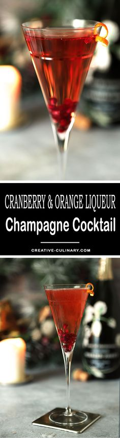 Make your champagne toast even more special with a Cranberry and Grand Marnier Champagne Cocktail which includes cranberry juice, orange liqueur and your favorite bubbly! via @creativculinary