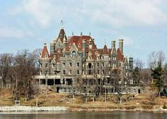 Boldt Castle, Heart Island, New York. George Boldt Bought The Island, Shaped It Into A Heart & Built A Castle On It For His Wife Louise. Tragically She Passed Away, In 1904, Before The Interior Of The Castle Could Be Completed. After The Death Of His Wife, Boldt Abandoned The Project Completely. The Ghost Of Louise Boldt Is Said To Be Seen Roaming The Grounds & The Castle Itself...