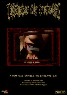 Cradle of Filth - From the Cradle to Enslave full page ad (version 3). Client: Music For Nations. Circa 1999. © Sean Mowle.