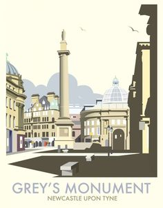 Greys Monument, Newcastle Art Print