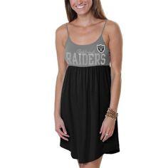 Womens Oakland Raiders '47 Brand Black Primetime Hooded Long Sleeve T-Shirt