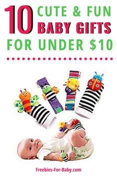 List of 10 unique baby gifts for less than $10. Unique baby gifts for boys and girls, perfect for if you're on a tight budget. Cute baby gifts for baby showers or even baby Christmas gifts. Check out these cheap baby gifts Moms are sure to love! Cute Baby Gifts, Best Baby Gifts, Unique Baby Gifts, Baby Girl Gifts, Cheap Baby Shower Gifts, Fun Baby Shower Games, Baby Freebies, Pregnancy Freebies, Free Baby Stuff