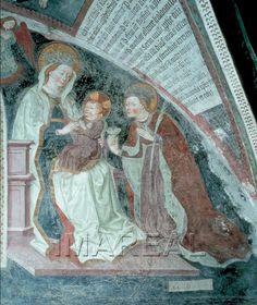 Hl. Maria mit Kind; Hl. Katharina 1455-1465; Brixen; Italien; Südtirol; Dom Kreuzgang, 2. Arkade  http://tarvos.imareal.oeaw.ac.at/server/images/7003953.JPG
