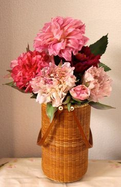 peony with wine bottle keeper