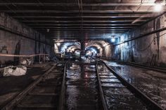 While most of his photos feature his hometown of New York City, Dark Cyanide also traveled to Los Angeles and Boston to capture those equally intriguing abandoned subway tunnels.