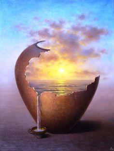 ♂ Dream ✚ Imagination ✚ Surrealism Surreal art Cup of sunshine                                                                                                                                                     More