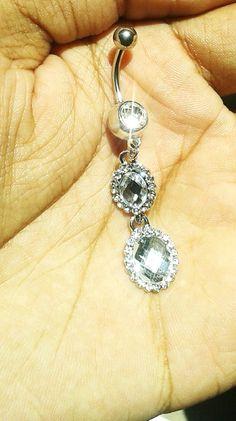 piercing de umbigo gota de cristal R$20,00 para comprar clique na imagem
