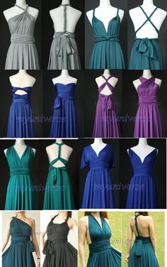 Bridesmaid Dress Full Length Infinity Dress Wrap by myuniverse, $99.00