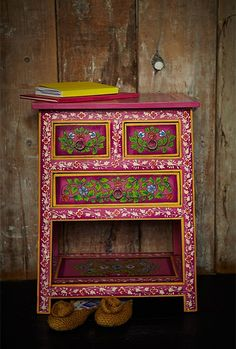A Lil' Bit Boho: Colorful Painted Cabinets