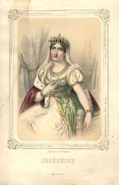 Joséphine de Beauharnais the first empress of France, wife of Napoleon, in mulit-gemmed tiara