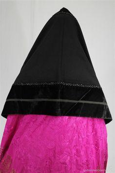 MANTILLA DE PAÑO Y TERCIOPELO (Antigüedades - Moda y Complementos - Mujer)