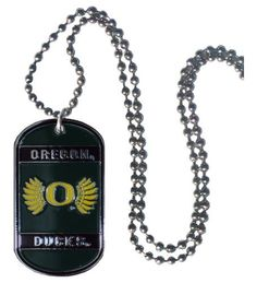 NCAA Oregon Ducks 36-Inch Ball Chain Necklace with Licensed Tag by Simran. $7.59