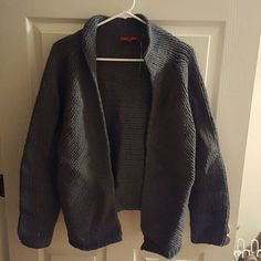 Wool Knit cardigan 100% merino wool. More of a blue ish gray Sundance Sweaters Cardigans