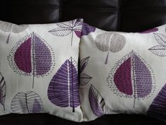 Throw pillow Purple lilac leaf leaves maple pattern by VeeDubz, $25.00