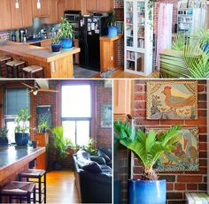 """my rustic/industrial/tropical apartment was featured on etsy's """"get the look decor"""" this week :)"""