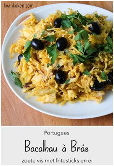 Portuguese Food, Portuguese Recipes, Bacalhau A Bras Recipe, Lunches And Dinners, Fish, Eat, Breakfast, Ethnic Recipes, Tasty Food Recipes