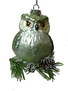Midwest Glass Owl Feather Bird Forest Animal Midwest Christmas Tree Ornament A in Birds | eBay