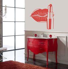 Housewares Vinyl Decal Cosmetics Lips Make up Beauty Salon Home Wall Art Decor Removable Stylish Sticker Mural Unique Design for Room Shopping Window Decal House http://www.amazon.com/dp/B00EV2769G/ref=cm_sw_r_pi_dp_IZOUtb0QZ24XM363