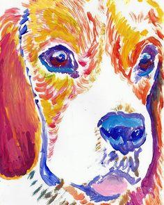 Beagle dog print, Beagle gift idea, Beagle portrait, Beagle dog, Beagle owner, Downloadable beagle, Beagle wall… #dogs #pets #puppy