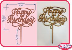 Happy Birthday Cake Topper . -Pedidos/InquirIes to: crearcjs@gmail.com