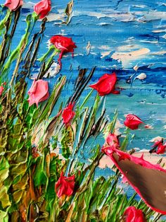 Oil on canvas with palette knife