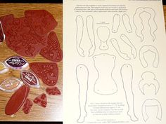 Art Doll Template - How to make a paper doll decorated by rubber stamping!