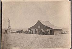 RURAL OKLAHOMA FAMILY FARM SCENE ~ c. - 1900