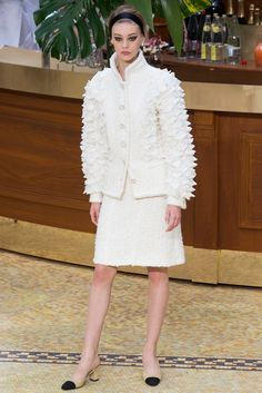#fashion editorials, shows, campaigns & more!: #chanel F/W 2015.16 #paris #pfw #couture #runway #white