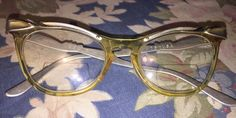 Vtg 1950s Style Ladies Cat Eye Glasses Eyeglasses U Z USA 5 1 2 | eBay