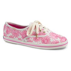 Champion Pink Daisy Embroidery sneaker, P3,995, Keds x kate spade new York