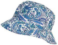 Tropic Hats Paisley Design Print Soft Floppy Bucket Cap (One Size) -  Blue Green Purple a76490814ed