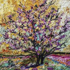 Tulip Magnolia Tree in Bloom Impressionist Oil Painting by Ginette Callaway. via Etsy. Tree Artwork, Cool Artwork, Tree Paintings, Pink Blossom Tree, Evergreen Landscape, Impressionist Landscape, Impressionist Paintings, Magnolia Trees, Watercolor Trees
