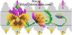 Плетем пасхальное яйцо из бисера с цветами анютыны глазки своими руками