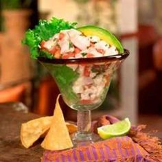 Faux Ceviche - the fish is actually pre-cooked, so it's safe for pregnant women, children, elderly, and anyone with a compromised immune system to eat! Enjoy!