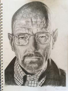 A3 drawing of Walter White from Breaking Bad.
